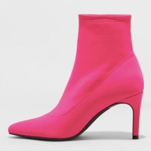 NWT pink heeled boots